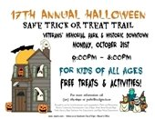 Halloween Safe Trick or Treat Trail