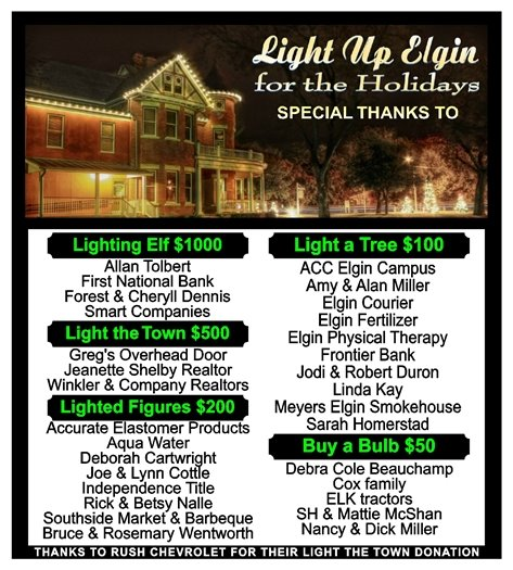 Light Up Elgin Sponsors