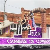 Chamber of Commerce Float with Queen and Court Western Days Parade 2016.
