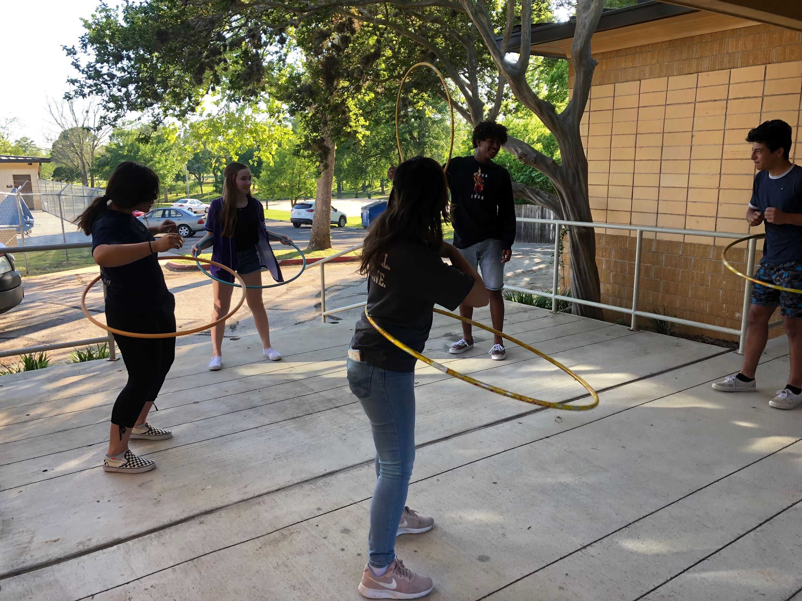 Teen Council Hula Hooping