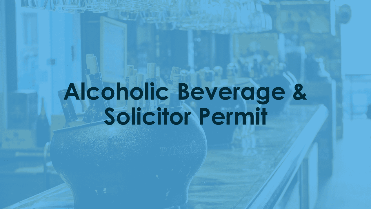 Alcohol & Solicitor Permit