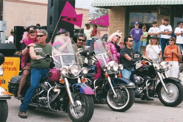 Bikers Participating in the Parade