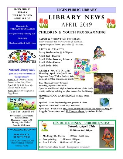 Elgin Public Library Activities