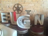image of Elgin spelled with three dimensional letters
