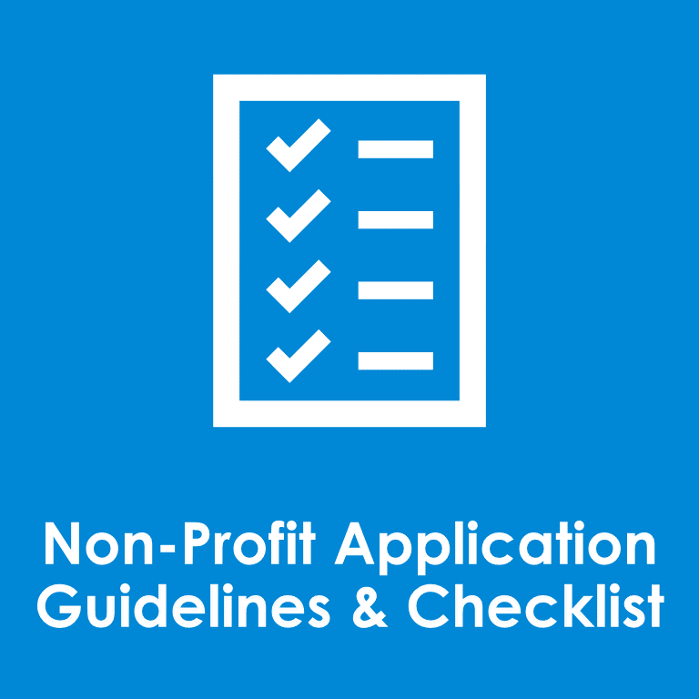 Non-Profit Application Guidelines Checklist